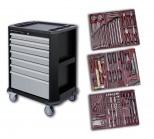 Carrello con utensili, 7 cassetti da 286 pezzi