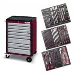 Carrello porta utensili, 8 cassetti con interni SERIE 4903 EVA3 da 166 utensili
