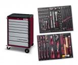Carrello porta utensili, 8 cassetti con interni SERIE 4903 EVA3 da 104 utensili