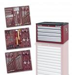 Cassettiera porta utensili, 4 cassetti da 191 pezzi