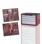 Cassettiera porta utensili, 4 cassetti da 150 pezzi